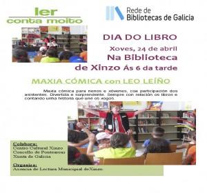 Cartel Leo Leiño en Xinzo