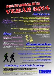 cartel actividades verán 2014
