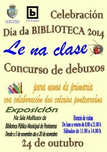 Cartel Día da Biblioteca 2014