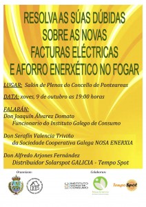 cartel charla eléctricas