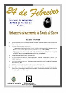 cartel BASES 24 de febreiro rosalia de castro