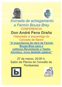 Cartel conferencia Bouza Brey