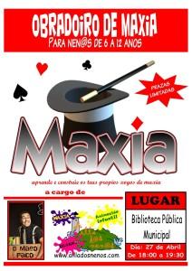 Cartel Obradoiro de Maxia Ponteareas