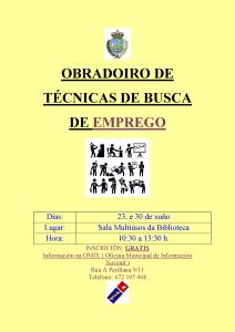 OBRADOIRO DE TÉCNICAS DE BUSCA DE EMPREGO.doc 2015