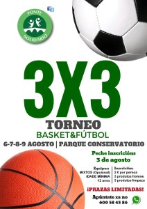 Cartel 3x3 Solidario