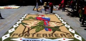 alfombra en Carrión de los Condes 2015