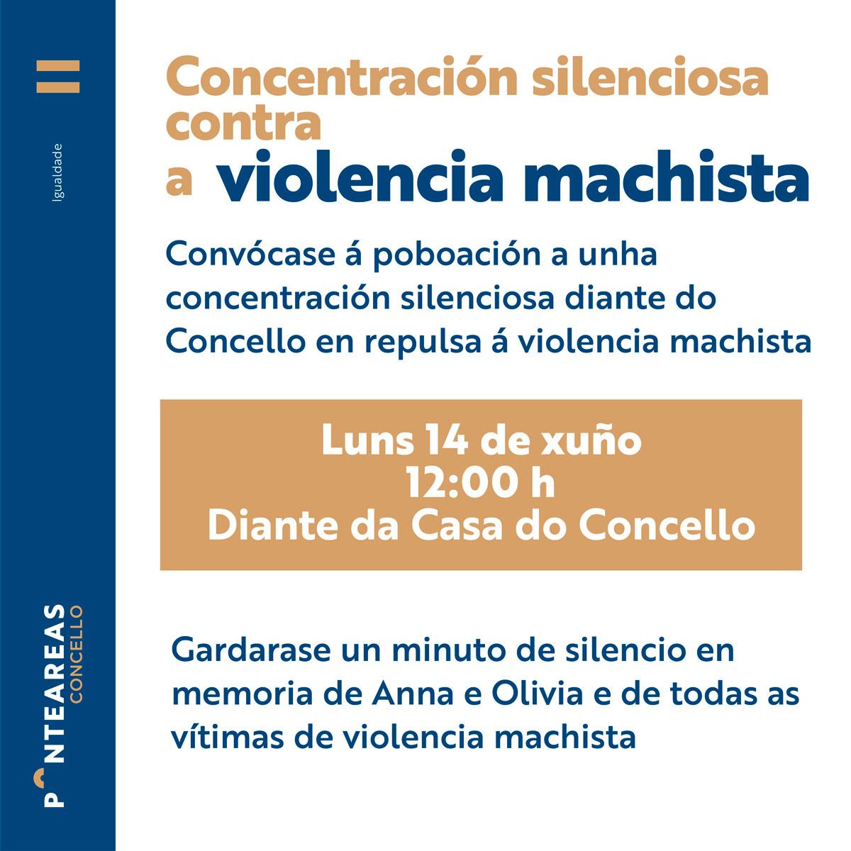 Concentración silenciosa contra a violencia machista