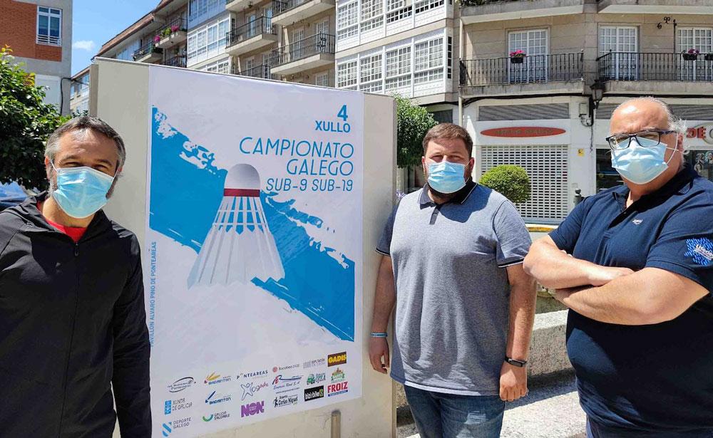 O pavillón municipal Álvaro Pino acolle este domingo o Campionato Galego sub 9 e sub 19 de bádminton