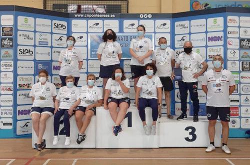 O CNPonteareas e o CNLiceo, gañadores do campionato galego de natación categoría máster