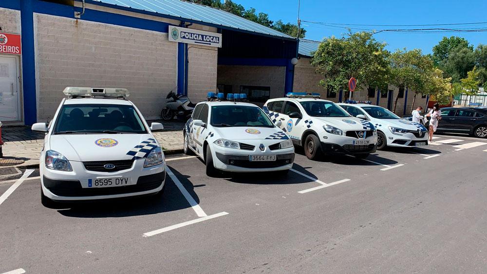 A Policía Local de Ponteareas realiza controis de velocidade con radar para mellorar a seguridade viaria