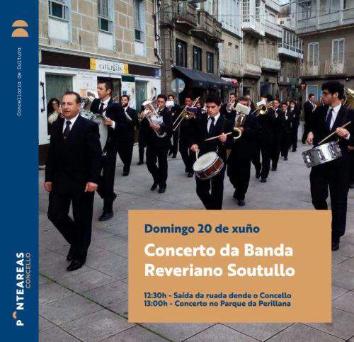 A Banda Reveriano Soutullo celebra este domingo unha ruada polo centro de Ponteareas