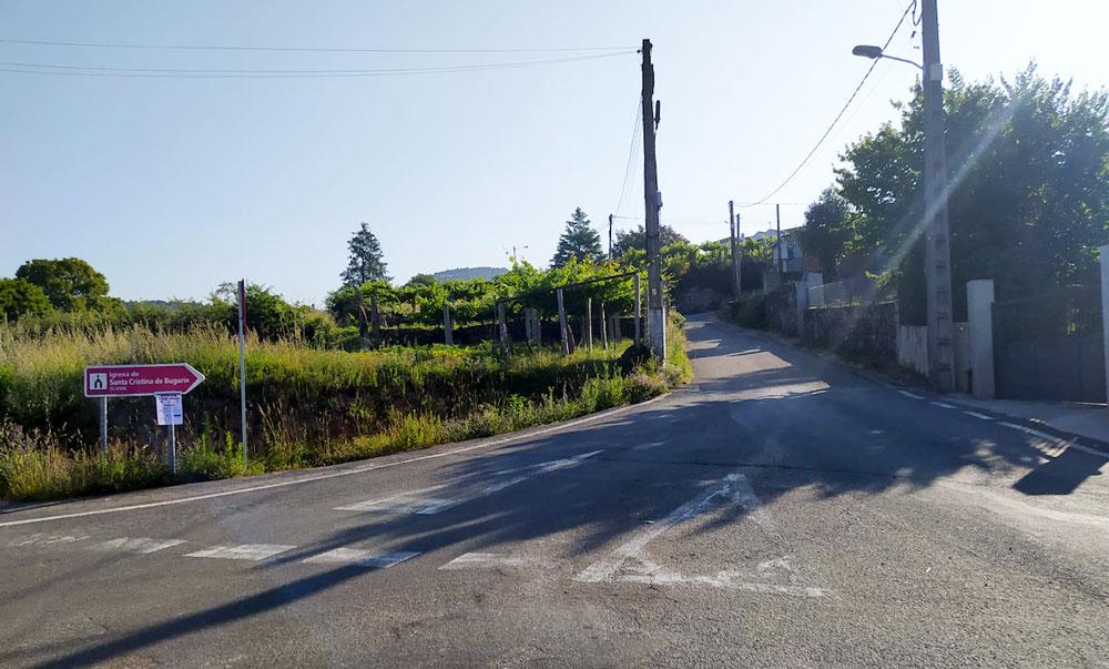 O Concello acometerá melloras no vial de subida a Santa Cristina de Bugarín