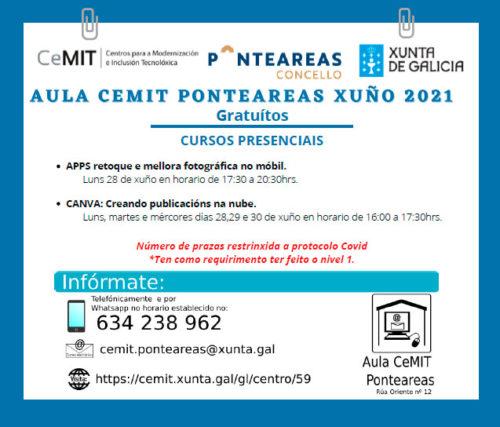 Aprende a retocar fotografías ou a crear publicacións na nube con CANVA na aula CEMIT de Ponteareas