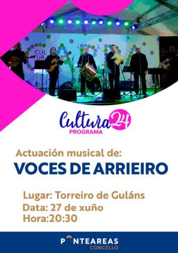Voces de Arrieiro en Guláns ao abeiro do programa Cultura24