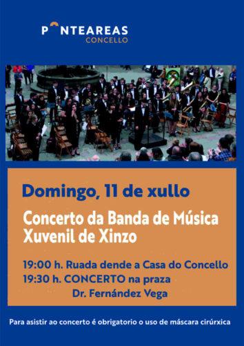 Ruada e concerto da Banda de Música Xuvenil de Xinzo este domingo 11
