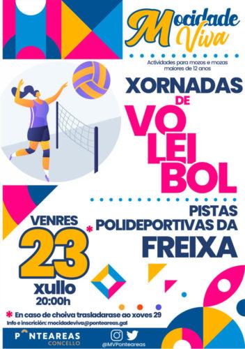 O programa Mocidade Viva organiza unha xornada de voleibol nas pistas polideportivas da Freixa