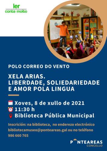 A Biblioteca municipal achega a nenos e nenas á figura de Xela Arias a través do programa 'Ler conta moito'