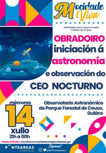 O programa Mocidade Viva inicia o verán cun obradoiro de iniciación á astronomía