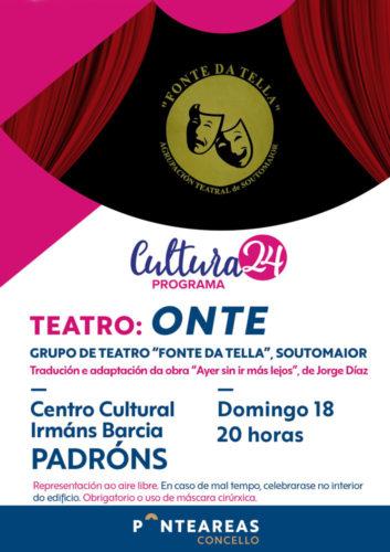 Teatro a escena en Padróns co programa Cultura24