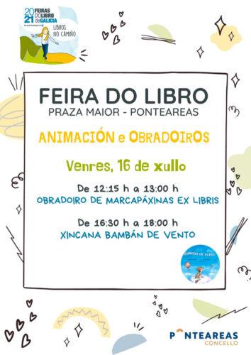 Obradoiros, contacontos, actividades de animación e concursos agardarán ao público na Feira do Libro de Ponteareas