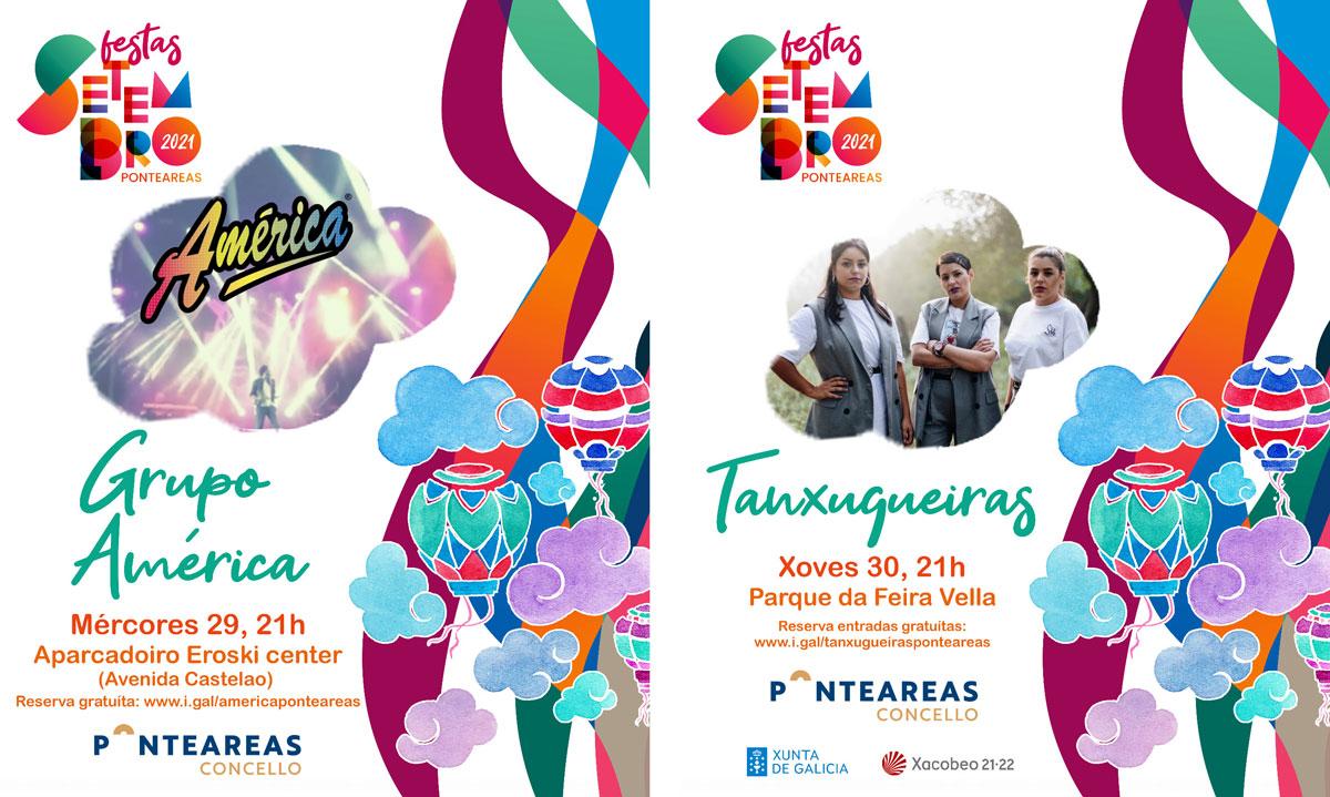 Pasarrúas, animación, lanzamento de globos e moita música en Ponteareas no arranque das festas de San Miguel