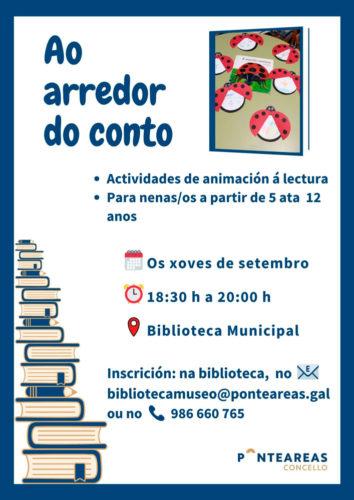 Os nenos e nenas poderán gozar 'Ao arredor do conto' na Biblioteca Municipal