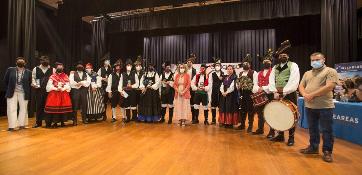 O grupo Bordón Grellado, gañador do LIV Concurso de Gaitas do País de Ponteareas