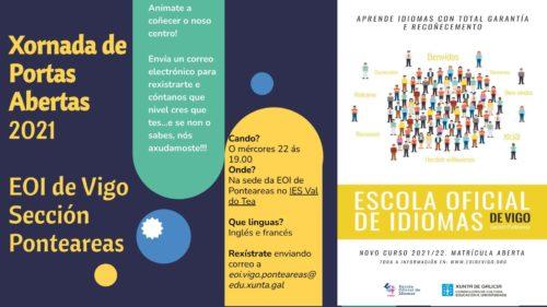 A Escola Oficial de Idiomas celebra unha xornada de portas abertas na súa sección de Ponteareas