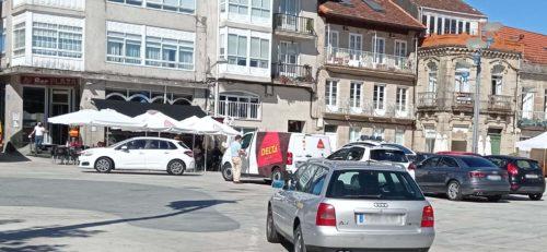 Ponteareas converte a Praza Maior nun espazo seguro para as persoas libre de vehículos a motor